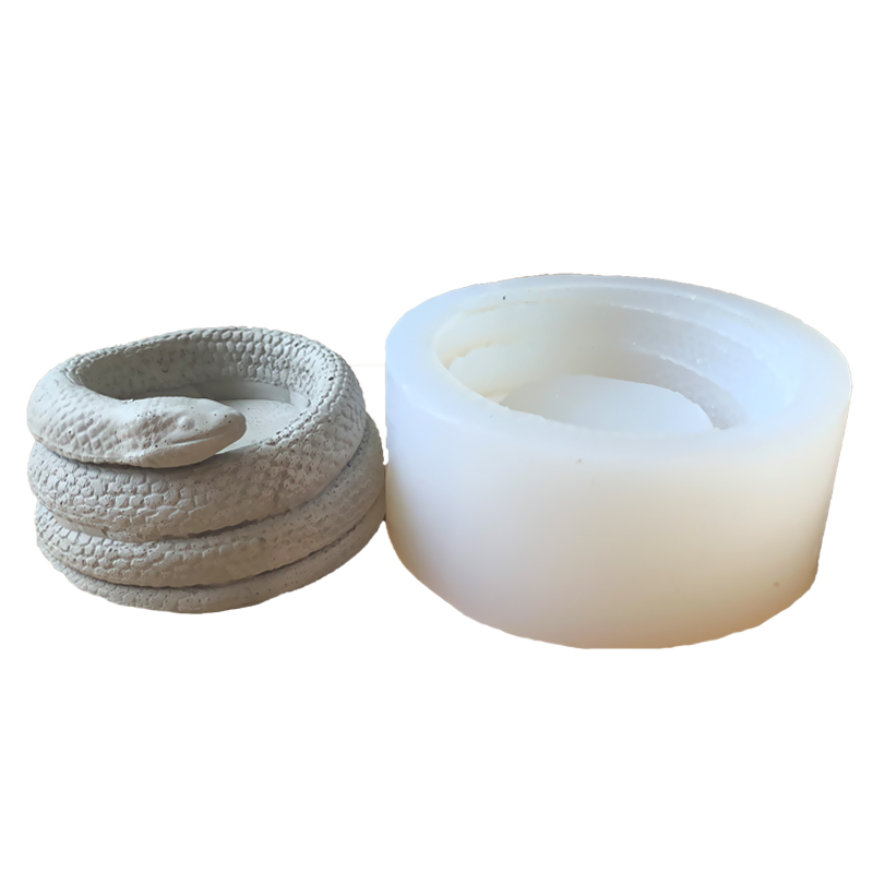 Snake design concrete candlestick molds creative home decoration mold cement container molds Flower Pot Molds