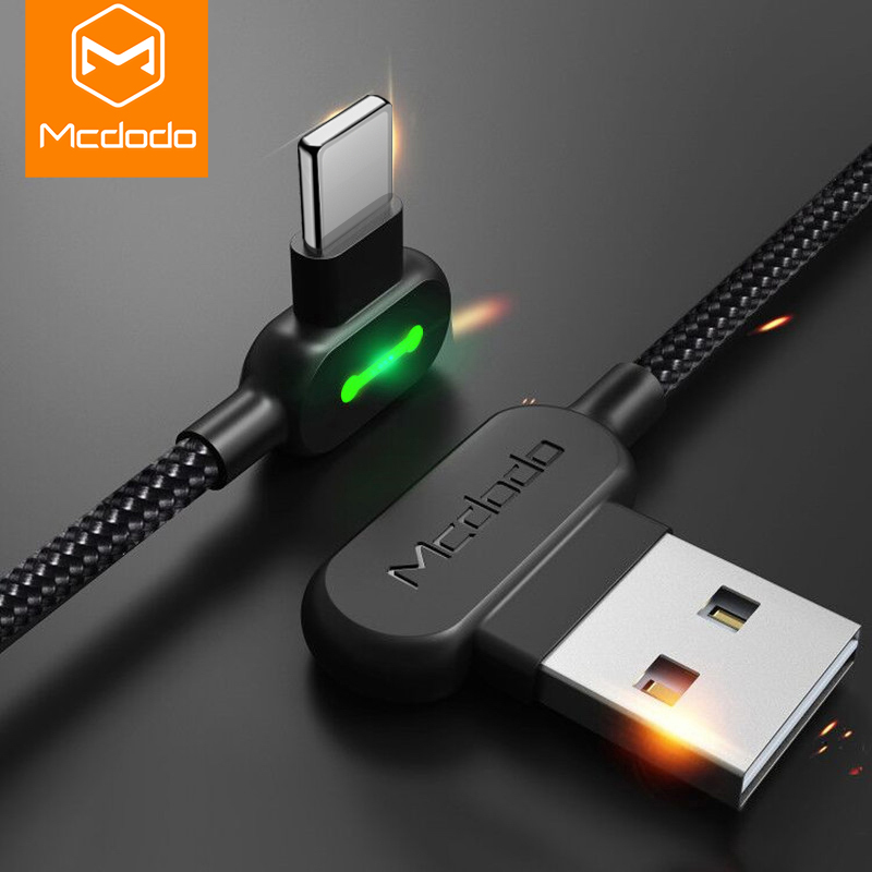 MCDODO 3m 2.4A Fast USB Cable LED Charging Mobile Phone Charger Cord Data Cable For iPhone 11 Pro XS Max XR X 8 7 6 6s Plus SE 5(China)