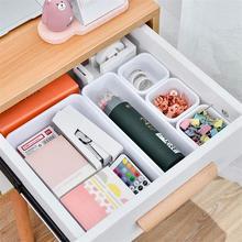 8 sztuk szuflady organizery schowek blokujące wąskie dzielniki do szuflad Box do łazienki biuro kuchnia przechowywanie w domu narzędzie tanie tanio Szuflady magazynowe Ekologiczne Z tworzywa sztucznego Rozmaitości Drawer Storage Box Plastic White Black Eco-Freiendly