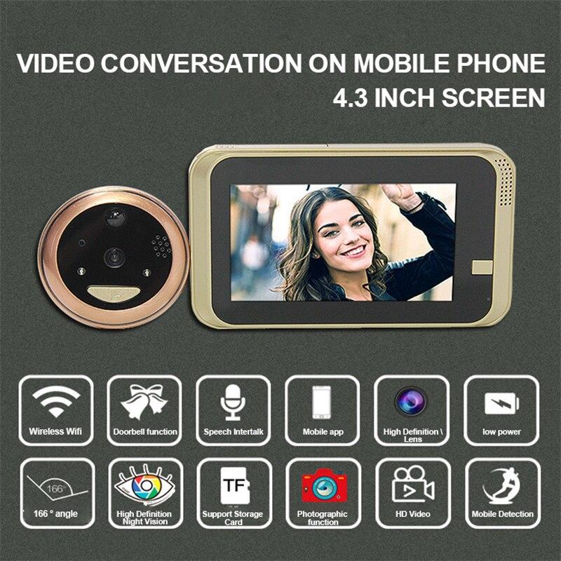 Купить с кэшбэком New 3000mAh Wireless Video Doorbell Home Intercom Video Door Phone Remote Infrared Night Security Camera Intercom Doorbell
