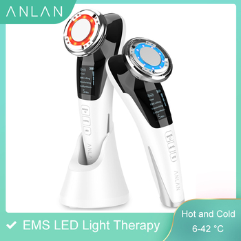 EMS LED light therapy Sonic Vibration Wrinkle Remover Facial Massage With ION And Photon Function Hot Cool Treatment Face Care цена 2017