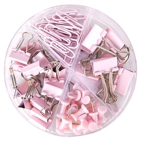 Image 5 - 6 zestaw/partia Mint zielony różowy różowe złoto kolor klipy na plik biurowy narzędzia wiążące wiele rozmiarów papieru zacisk Memo...