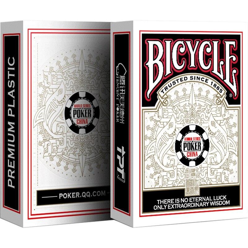 Bicycle WSOP CHINA PVC Playing Cards Premium Plastic Dura Flex Deck Poker Size Magic Cards Magic Tricks Magic Props