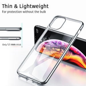 Image 3 - Midnight Green Plating Case voor iPhone 11 Pro Max Luxe Zachte Siliconen Transparante Telefoon Case voor iPhone 11 11Pro XR X XS Max