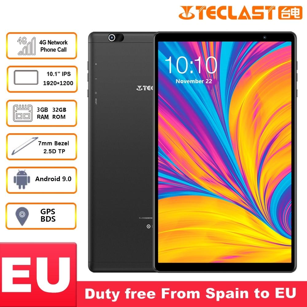 Teclast P10HD 4G Tablettes D'appel Téléphonique Octa Core 10.1 Pouces IPS 1920 × 1200 3 Go De RAM 32 Go ROM SC9863A GPS Android 9.0 6000mAh Tablette PC