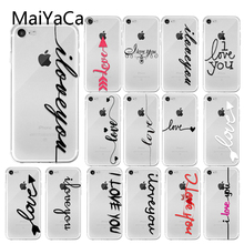 MaiYaCa Couples Phone Case For iPhone 6 6s 7 8 Plus 5 5s SE Letter Love Transparent X XR XS Max Soft TPU Cover