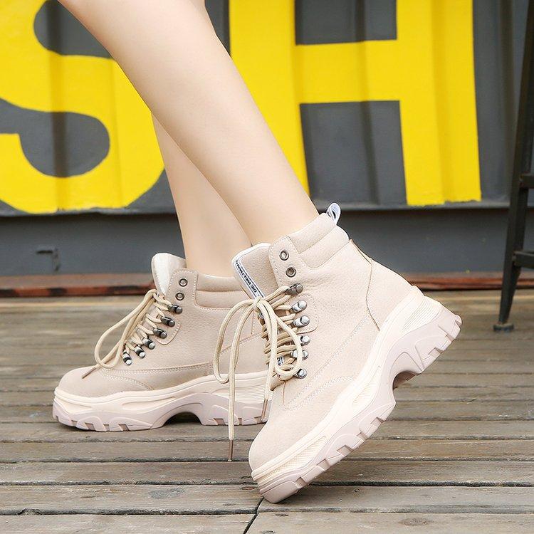 Новинка 2020, зимние женские теплые меховые плюшевые ботинки для снега, Модные Ботинки на каблуке, Брендовые женские ботильоны, женские кроссовки, Botas Mujer|Полусапожки| | АлиЭкспресс