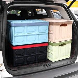 Image 3 - صندوق تخزين السيارة ، صندوق تخزين البضائع ، قابل للطي ، ملحقات داخلية متعددة الوظائف ، تصميم السيارة