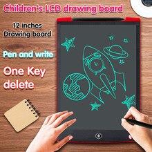 12 inç LCD yazma tableti dijital çizim elektronik el yazısı mesaj ekran kurulu çocuk yazı tahtası kalem