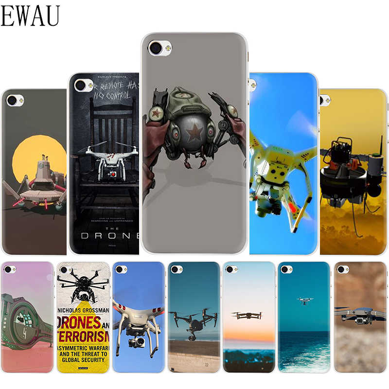 EWAU Terror drone Silicone Mattle phone cover case for iphone 5 5s SE 6 6s 7 8 plus X XR XS 11 Pro Max