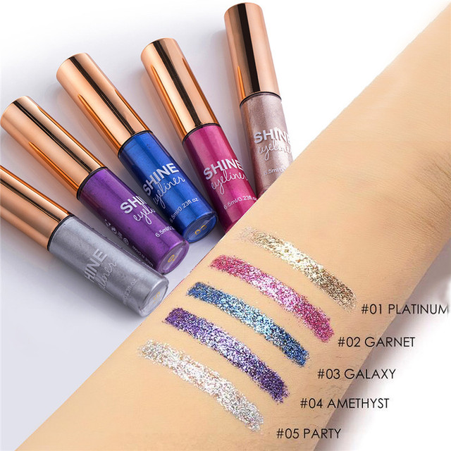 Matte Liquid Eyeliner Bright Color Waterproof Eye Liner Pencil Long-Lasting White Eye Liner Pen Eyes Makeup 2