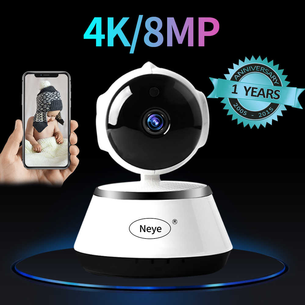 N_eye Indoor Camera 8mp 4 K Hd Smart Home Camera Nachtzicht 360 Graden Panoramische Camera Pan-Tilt Baby monitor Ip Camera Wifi