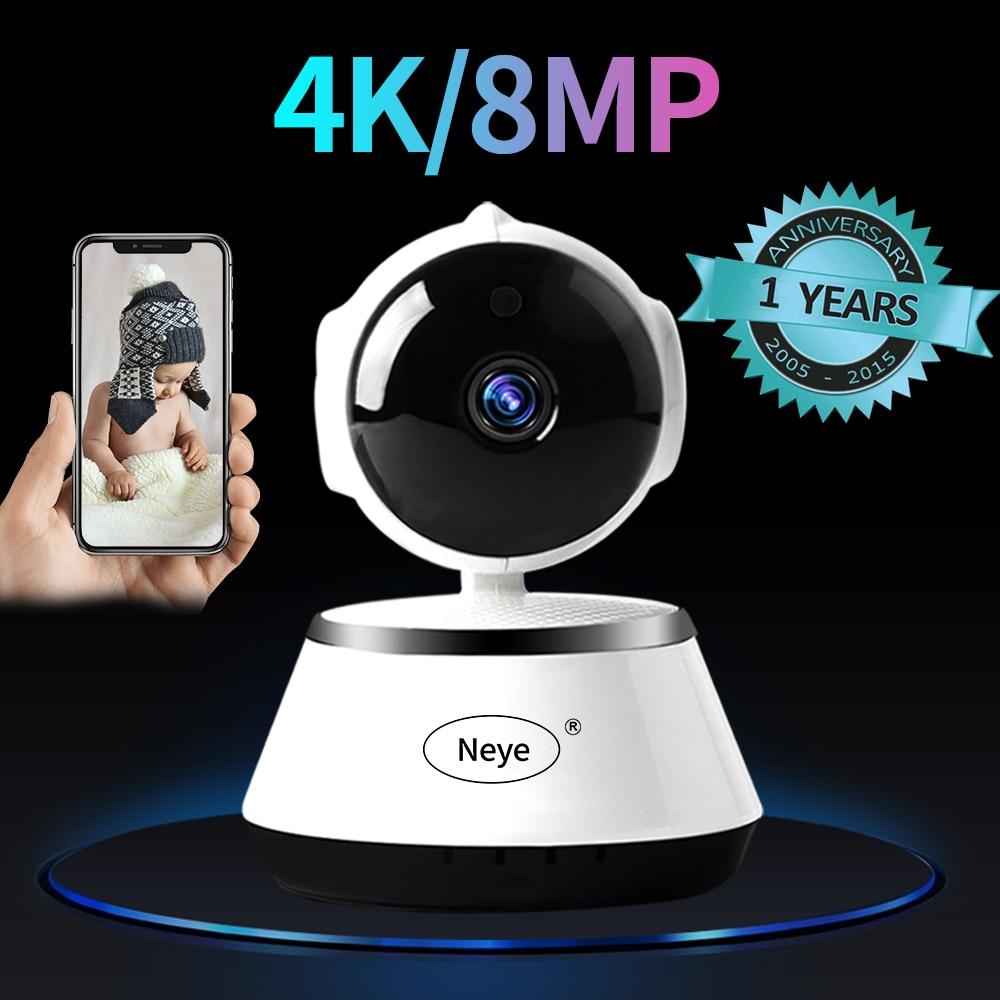 N_eye Indoor Camera 8mp 4k HD Smart Home Camera Night Vision 360 Degree Panoramic Camera Pan-tilt Baby Monitor IP Camera WIFI