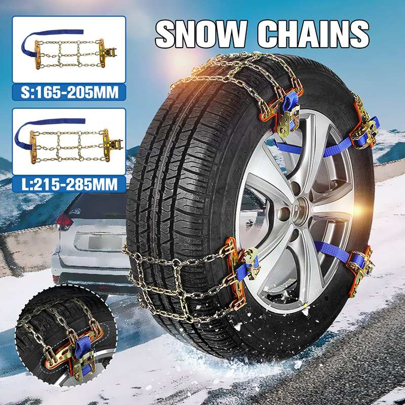 Professional 3 Chains Balance Design Anti-skid Chain Wear-resistant Steel Car Snow Chains For Ice/Snow/Mud Road Safe For Driving