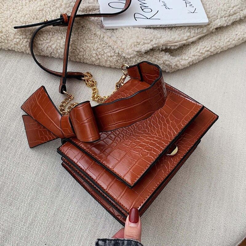 Vintage Crocodile PU Leather Handbags Women's Crossbody Bags Fashion Totes Ladies Shoulder Messenger Bag Clutch Female Purses
