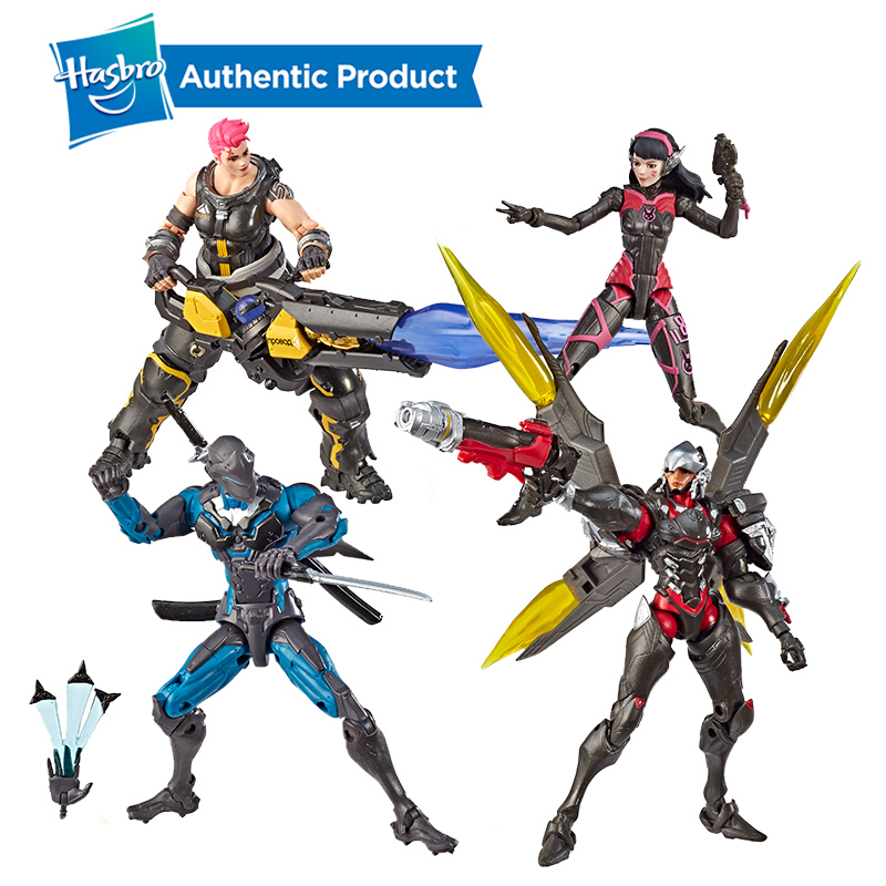 Hasbro Overwatch GENJI ZARYR Ultimates Carbon Series Doll Set PHARAH D.VA Collectible Action Figures Hot Sale Suit