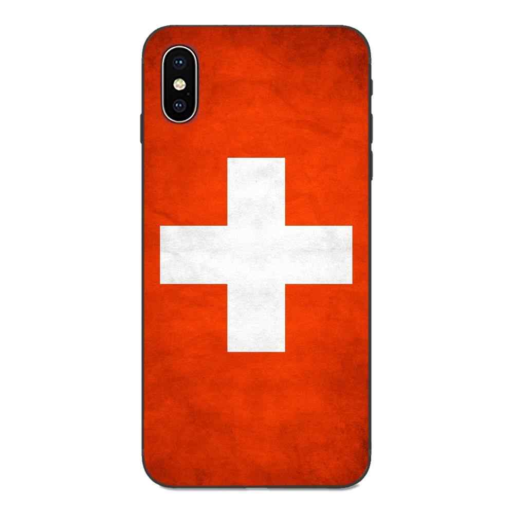 Bandeira nacional polónia suíça paraguai caso celular para apple iphone 4 4S 5 5S se 6 s 7 8 plus x xs max xr