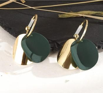 Round Vintage Drop Earrings Earrings Jewelry Women Jewelry Metal Color: H22201