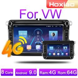 Автомагнитола на Android 10, мультимедийный плеер с GPS Навигатором, для VW/Volkswagen/Golf/Passat/b7/b6/Skoda/Seat/Octavia/Polo/Tiguan, типоразмер 2 Din