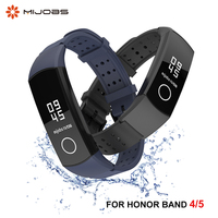 Pulseira de silicone para honor band 4 5, acessórios esportivos anti-perda para hole honor band 5 4 air hole tpu