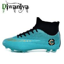 Diwaniya Men Football Boots High Ankle Soccer Shoe Women Sof