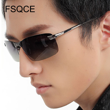 UV400 Goggles New Alloy Aluminum Men Sunglasses Brand Design Polarized Sun Glasses Driving Male Fashion Eyewear Rimless Outdoor