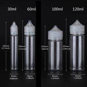 Image 2 - 50Pcs X 10Ml 120Ml Transparante Dropper Flessen Lege Plastic E Vloeibare Sap Olie Huisdier Clear Containers met Crc Caps Droppers