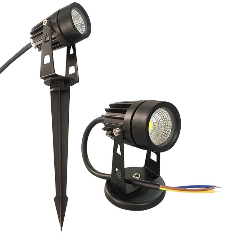 New Style COB Garden Lawn Lamp Light 220V 110V 12V Outdoor LED Spike Light 3W 5W Path Landscape Waterproof Spot Bulbs