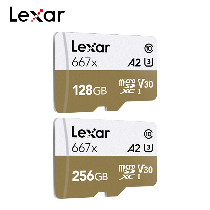 Lexar Professional Memory Cards up to 100MB/s Micro SD Card 667x C10 256GB 128GB Free Adapter TF Cards for Drone Sport Camcorder|Memory Cards| |  - title=