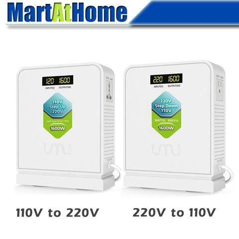 1600w viagem conversor de voltagem transformador de 220v para 110v step down 110 v a