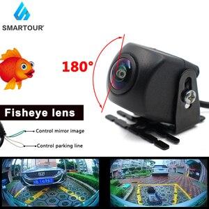 Image 2 - Smartour 180 Degree Car Rear Front View Camera Universal Backup Parking Camera Night Vision Waterproof Ccd Color Image