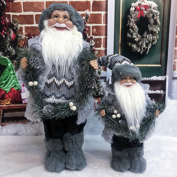 Christmas Party Gifts Merry Christmas Figurine Decoration Xmas Tree Ornaments Santa Claus Doll Beard Ornaments merry christmas decoration banner christmas tree ornaments xmas santa claus pendant christmas gift new year decoration for home