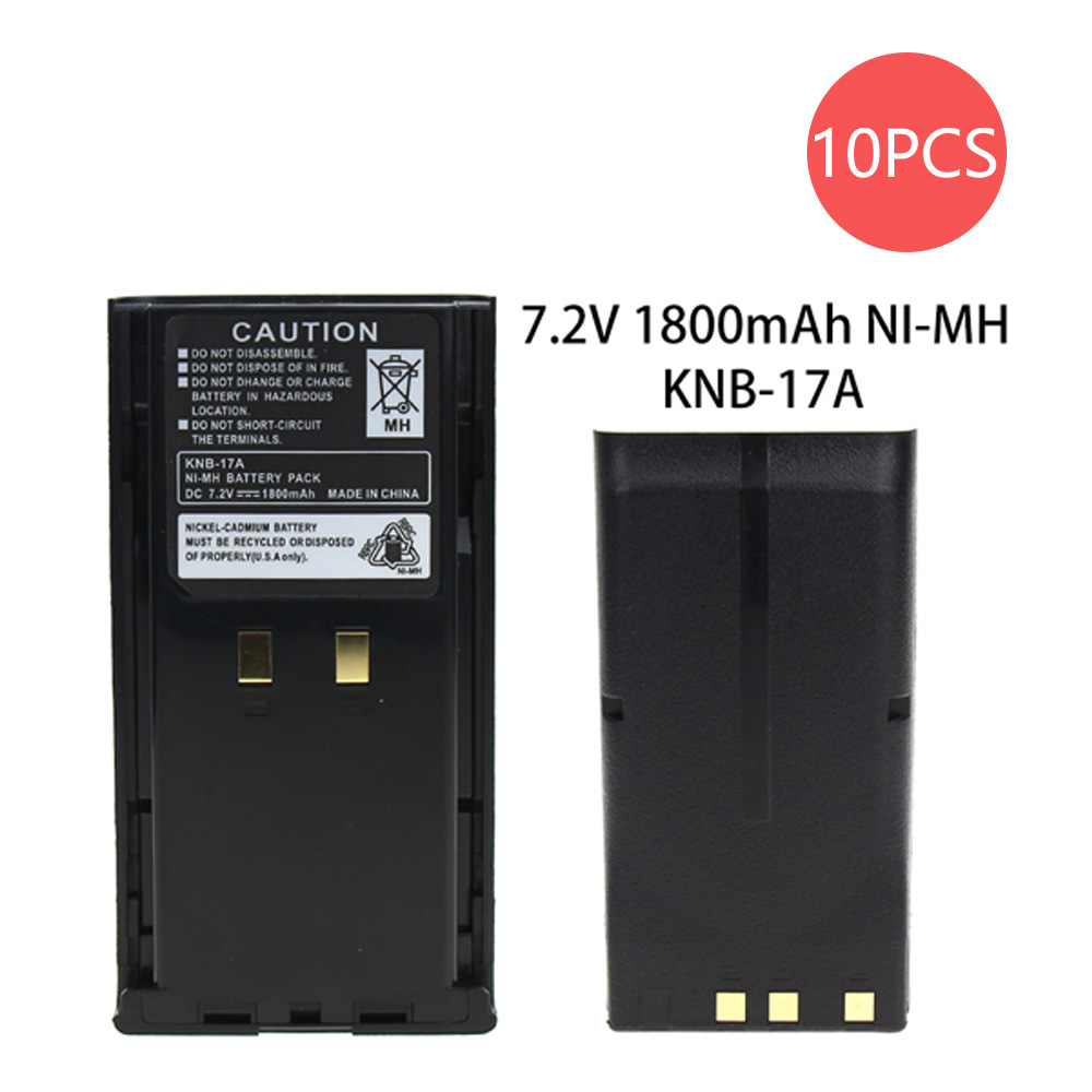 10X KNB17A 1800mAh Ni-MH Battery For Kenwood TK-280/380/480/481 TK-290/390/490 Pro Talk TK 2100/4100 Two Way Radio