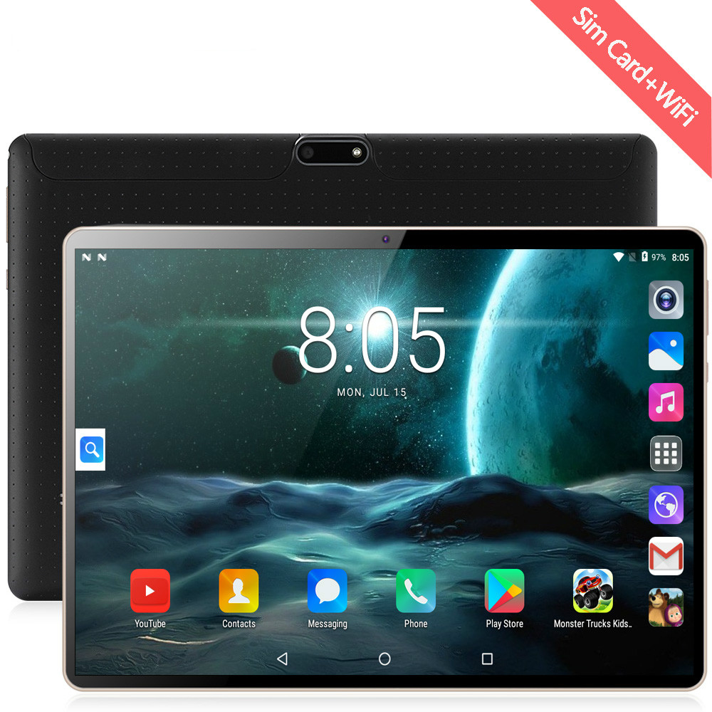 2020 New Original 10 Inch Tablet Pc Octa Core 4G Phone Call 10.1 Tablets 6G+128G Android 8.0 Google Market GPS WiFi FM Bluetooth