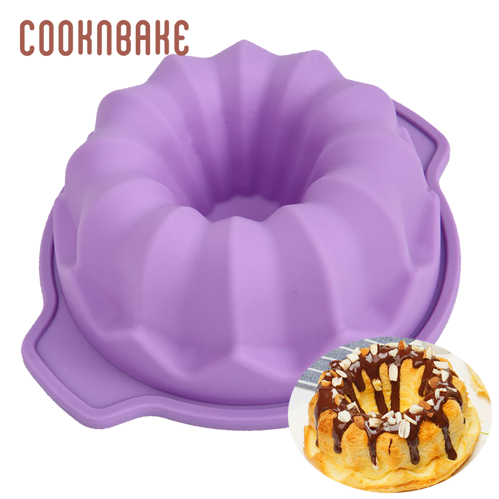 COOKNBAKE silicone mold for cake flower small cakes bread pastry baking tool pumpkin mousse cake pudding form DIY birthday image