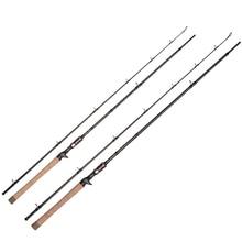 Heavy Baitcasting Casting Carbon fishing rod  6'8 2.05m H 2 Sections jigging rod Freshwater Catfish Snakehead Fishing Tackle