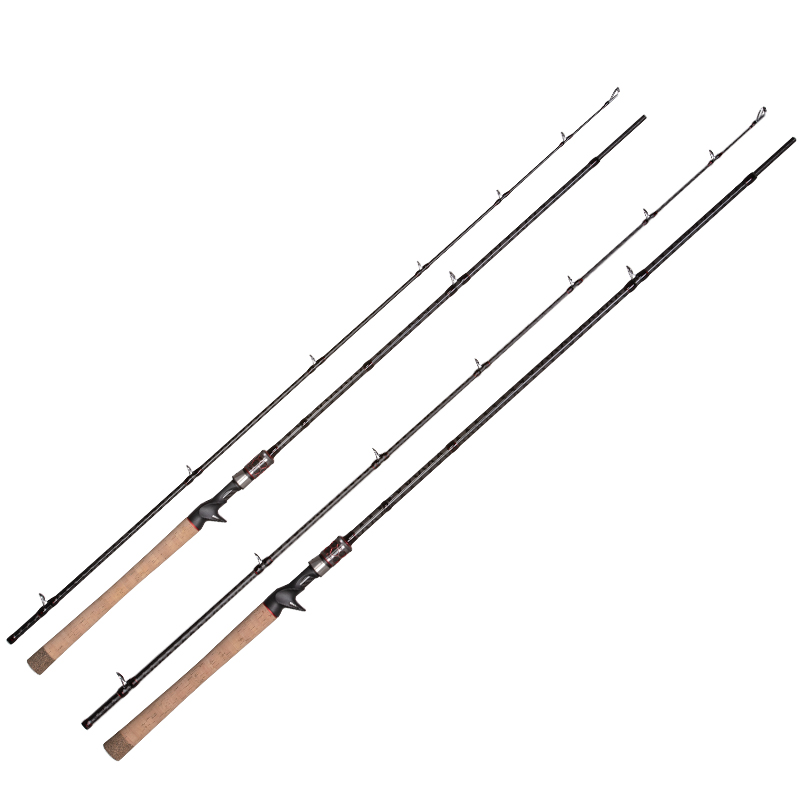 OBSESSION Carbon 2 Sections Baitcasting Casting Fishing Rod 6'8 7'6 2.05m 2.28m H XH jigging rod Freshwater Fishing Tackle