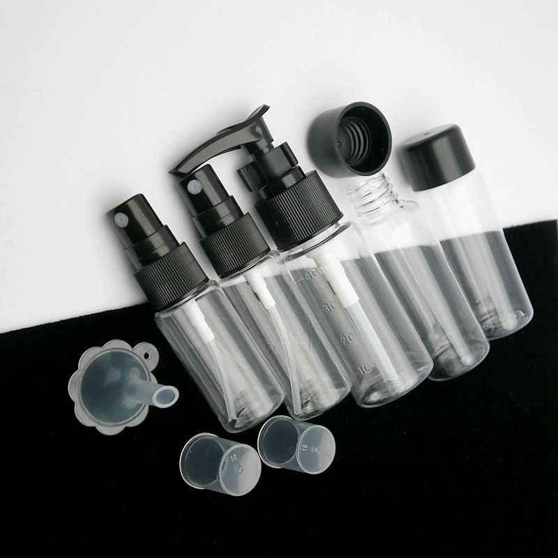 7pcs Mini Travel Make-Up Cosmetische Gezichtscrème Pot Flessen Transparante Plastic Travel Accessoires Lege Make Up Container Fles
