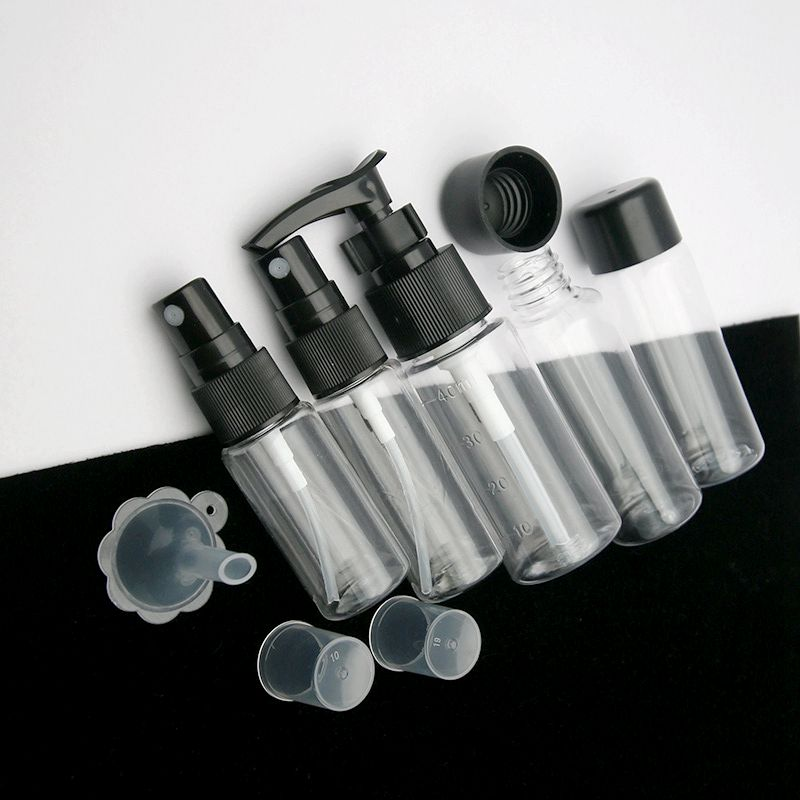 7pcs Mini Travel Makeup Cosmetic Face Cream Pot Bottles Transparent Plastic Travel Accessories Empty Make Up Container Bottle