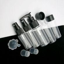 7pcs Mini Travel Makeup Cosmetic Face Cream Pot Bottles Transparent Plastic Travel Accessories Empty Make Up Container Bottle