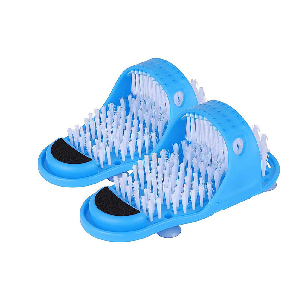 Shower Foot Scrubber Massager Cleaner Spa Exfoliating Washer Wash Slipper Tools Bathroom Bath Foot Brushes Remove Dead Skin 1pc