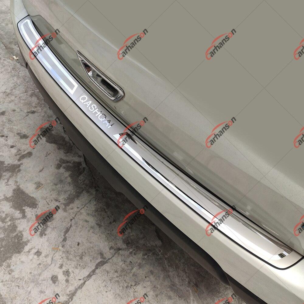Pour Nissan Qashqai J11 garniture de coffre voiture en acier inoxydable pare-chocs arrière protecteur seuil de porte couverture Auto autocollant style accessoires