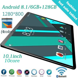 2020 nauka tablet 4G Dual SIM Android 9.0 tablet 6GB + 128GB ROM WiFi GPS 10.1 cala tablet obsługuje ZOOM, obsługuje Netflix