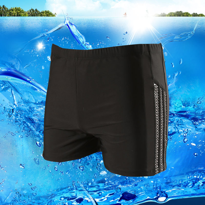 Yi Duo Lotus Swimming Trunks Swimming Suit Men Short Swimming Trunks Plus-sized Loose-Fit Breathable Bubble Hot Spring Swimming