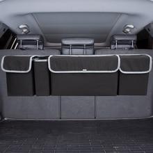 Car Trunk Organizer Adjustable Backseat Storage Bag High Capacity Multi-use Oxford Automobile Seat Back Organizers