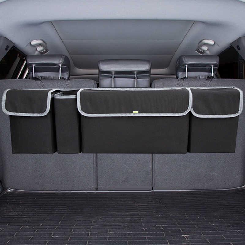 Organizator bagażnika samochodowego regulowane przechowywanie z tyłu siedzenia torba o dużej pojemności wielofunkcyjny fotel samochodowy Oxford powrót organizatorzy