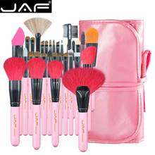 JAF 32 pcs Professional Makeup Brushes Natural Goat Pony Hair Makeup Brush Set Extra Large Powder Brushes J3252 P