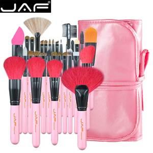 Image 1 - JAF 32 sztuk profesjonalne pędzle do makijażu naturalne kozie kucyk układanie włosów zestaw pędzelków bardzo duża pędzle do pudru J3252 P