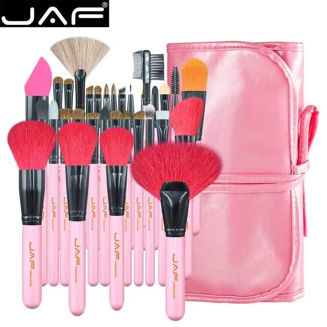 JAF 32 sztuk profesjonalne pędzle do makijażu naturalne kozie kucyk układanie włosów zestaw pędzelków bardzo duża pędzle do pudru J3252 P