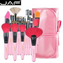 Jaf 32 pçs pincéis de maquiagem profissional natural cabra pônei cabelo maquiagem escova conjunto extra grandes escovas em pó J3252 P